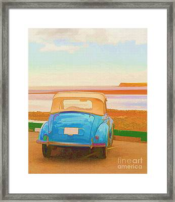 Drive To The Shore Framed Print