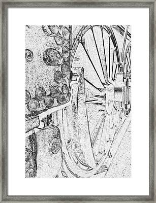 Drive Wheels Dm  Framed Print by Daniel Thompson