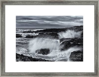 Driven By The Storm Framed Print