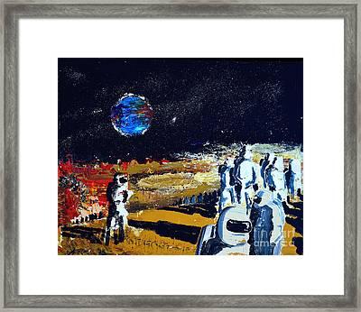 Driven Out Of Eden Framed Print by Allen Zimmerman