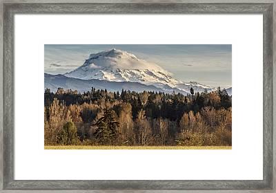 Drive'n Round Mt Rainier Framed Print