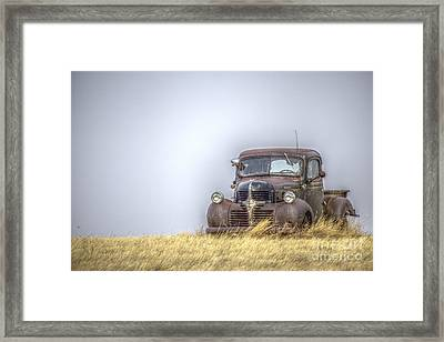 A Rusty Abandoned Truck Near Sturgis South Dakota Framed Print