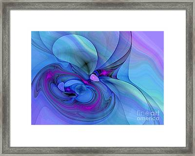 Driven To Abstraction Framed Print by Peggy Hughes