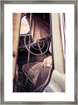 Framed Print featuring the photograph Drivers Seat by Brian Bonham