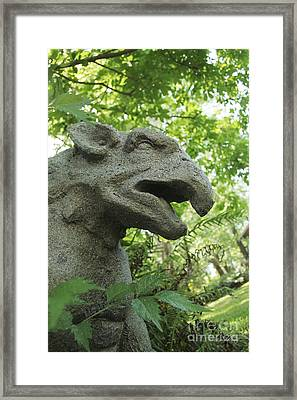 Driveway Guardian 3 Framed Print by Dodie Ulery