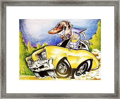 Drivin Around In My Automobile  Framed Print by Big Mike Roate