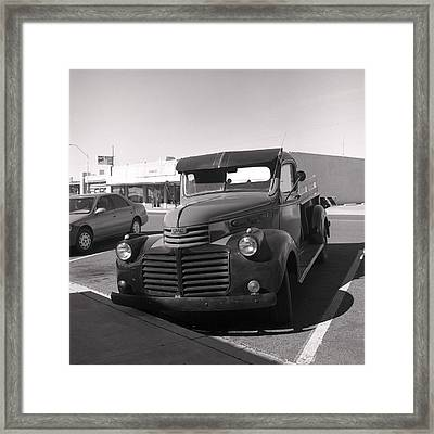 Driving A Relic - Film Framed Print by Greg Larson
