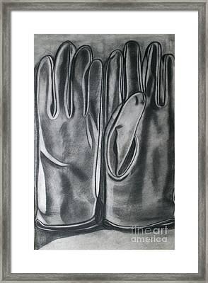 Driving Gloves Framed Print by Cecilia Stevens