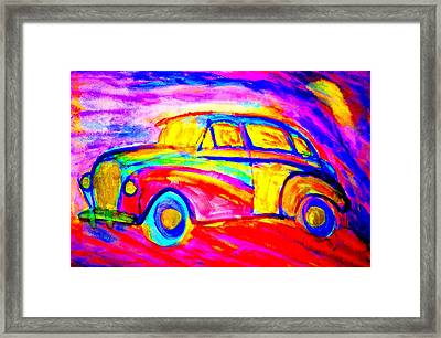 Driving Home Late At Night    Framed Print by Hilde Widerberg