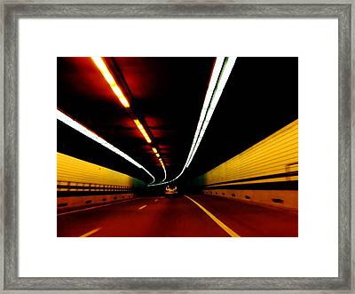 Driving In Boston Framed Print by Charlie and Norma Brock