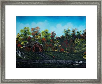 Driving In The Country Framed Print by Nature's Effects - Heather Seward