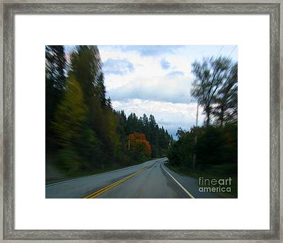 Driving Framed Print by Leone Lund