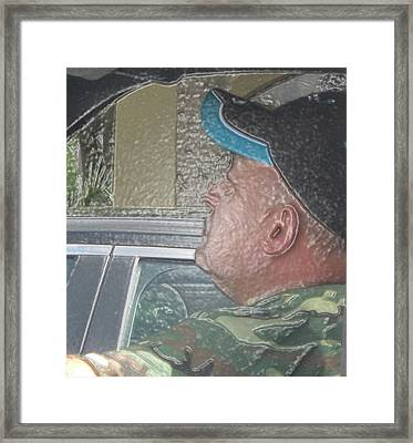 Driving Man Framed Print