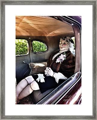 Driving Miss Daizee Framed Print