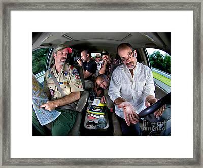 Driving Myself Crazy Framed Print by Mark Miller