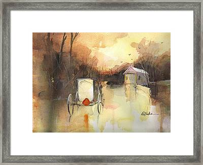 Driving On Framed Print