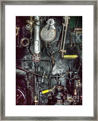 Driving Steam Framed Print by MJ Olsen