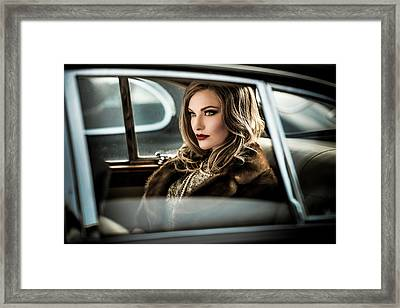 Driving The Diva To The Event.... Framed Print