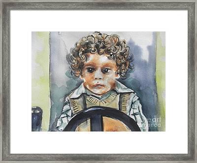Driving The Taxi Framed Print by Chrisann Ellis