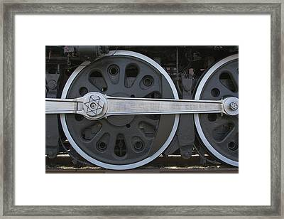 Driving Wheel On Vintage Train Framed Print by Jane Eleanor Nicholas