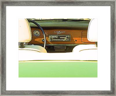 Driving With The Top Down Framed Print by Pamela Patch