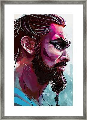 Drogo Framed Print by Jeremy Scott