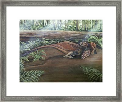 Dromaeosaurus Framed Print by Tristan Roberts