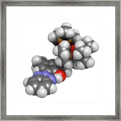 Drometrizole Trisiloxane Molecule Framed Print by Molekuul