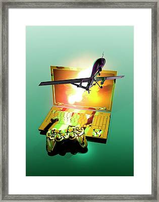 Drone And Games Console Framed Print by Victor Habbick Visions