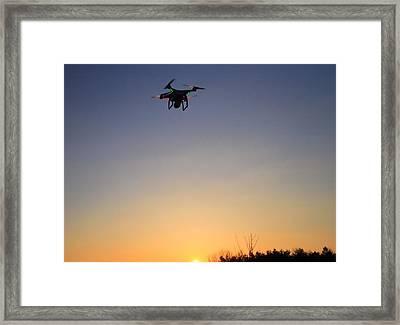 Drone At Sunset Framed Print