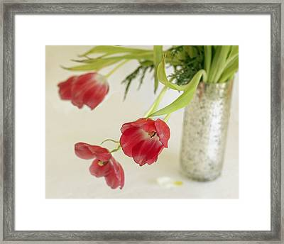 Framed Print featuring the photograph Drooping Tulips by Rosemary Aubut