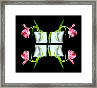 Droopy Tulips Framed Print