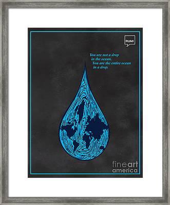 Drop In The Ocean Framed Print