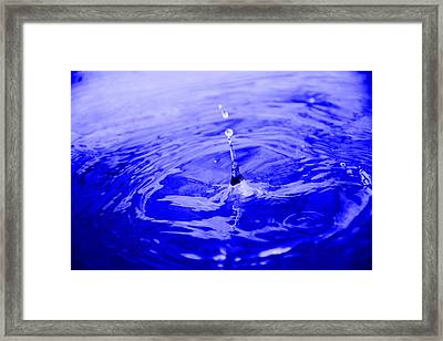 Drop Of Blue Framed Print by Valarie Davis