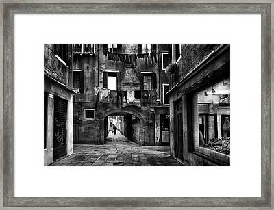 Drop-off Laundry Service Framed Print