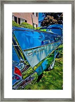 Drop Top And Tail Fins Framed Print by Jeff Sinon
