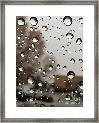 Droplet Patterns Framed Print