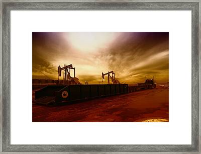 Dropping A Tank Framed Print by Jeff Swan