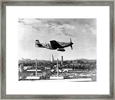 Dropping Napalm Over North Korea Framed Print by Us Air Force