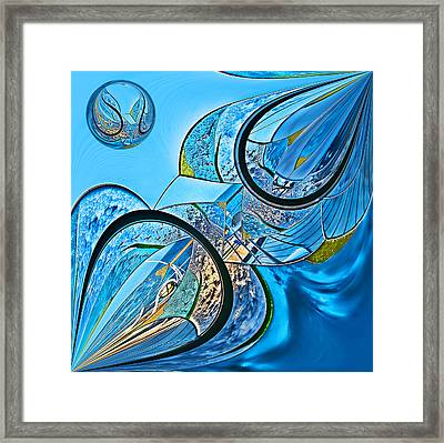 Blue Fantasy Framed Print