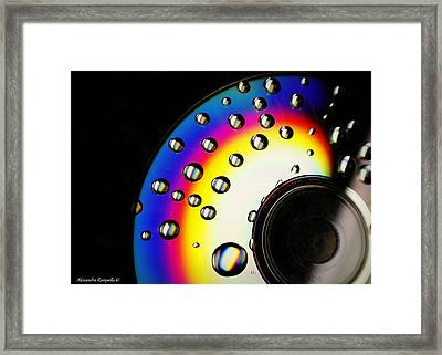 Drops Of A Rainbow Framed Print by Alexandra  Rampolla