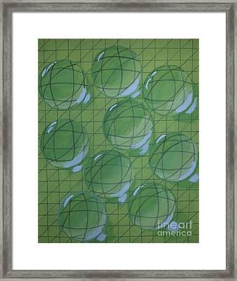 Drops Of Lime Framed Print