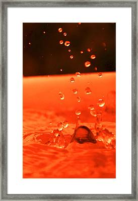 Drops Of Water Framed Print by Valarie Davis