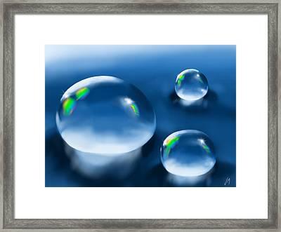 Drops Framed Print by Veronica Minozzi