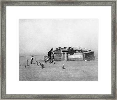Drought Dust Storm, 1936 Framed Print by Granger