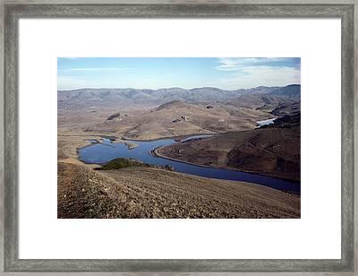Drought, Nicosia Reservoir Framed Print