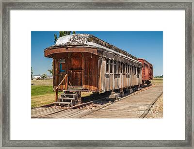 Drover And Cattle Cars Framed Print