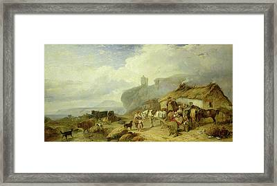 Drovers Halt, Island Of Mull Framed Print by Richard Ansdell