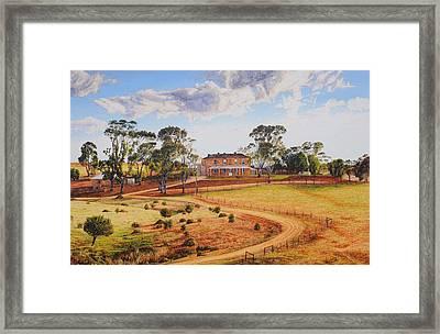 Drover's Run Framed Print
