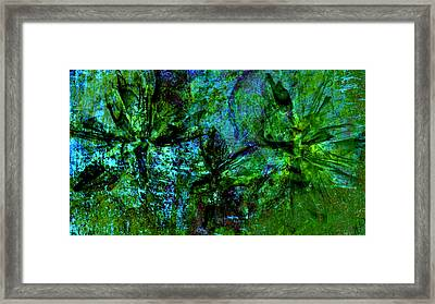 Framed Print featuring the mixed media Drowning by Ally  White